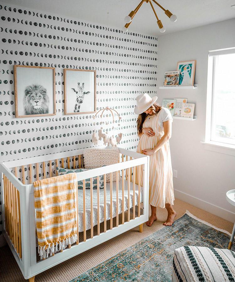 papel de parede para quarto de bebê